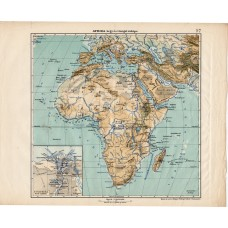 Africa mountain and hydrographic map 1913