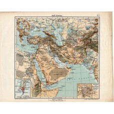 West Asia map 1913