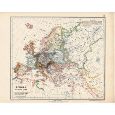 Europe map at the time of the Reformation, published 1913