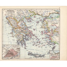 Graecia (Greek states) map, published 1913