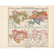 Austria and Hungary small maps 1913