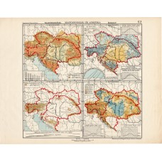Austria and Hungary upheaval and climate maps 1913