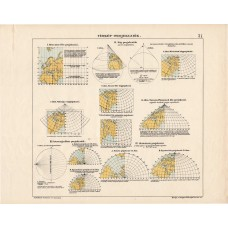 Map projections, lithography 1913