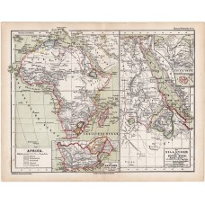 Africa and the Nile map 1870