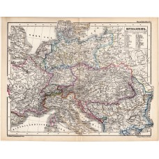 Central Europe political map 1870