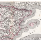 Spain and Portugal map 1870