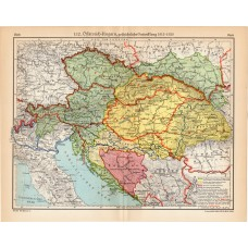 Austro - Hungarian Monarchy map 1815 - 1920, published 1932