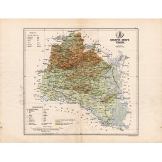 Baranya county map 1885