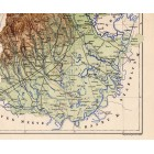 Borsod county map 1887