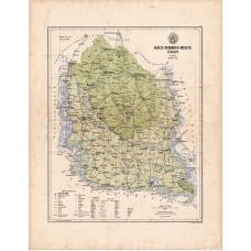 Bács - Bodrog county map 1886