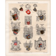 History of the crest, lithography 1888