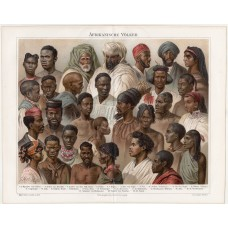 African populations, lithography 1894