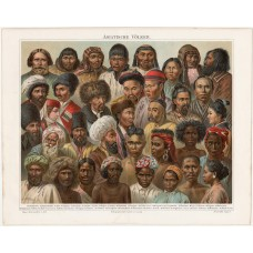 Asian populations, lithography 1894