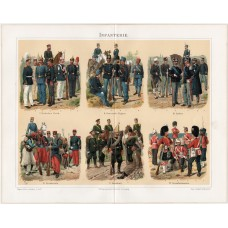 Infantry, lithography 1894