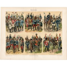 Cavalry, lithography 1896