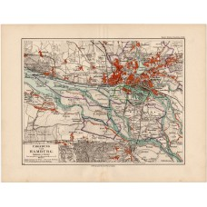 Hamburg and surroundings map 1892