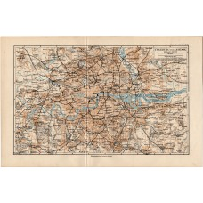 London and its surroundings map 1892