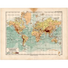 World map in Mercator projection 1892