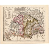 Hungary and Galicia map 1840