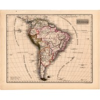 South America map 1840