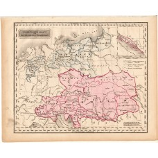 Austria - Hungary and Prussia map 1840 (2)