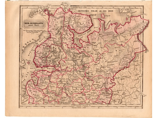 Northern Russia map 1840