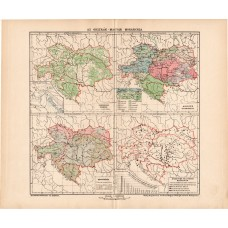 Austria and Hungary small maps 1902