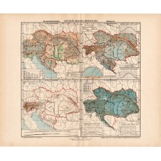 Austria and Hungary upheaval and climate maps 1902