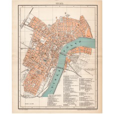 Map of Szeged 1898