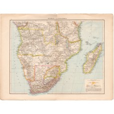 Central and South Africa, Fokland, East Africa map 1887