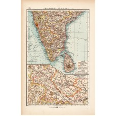 South India map 1902