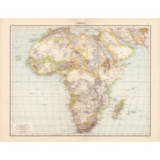 Africa map 1881