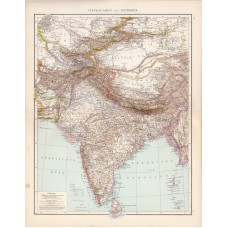 Central Asia and East India map 1881