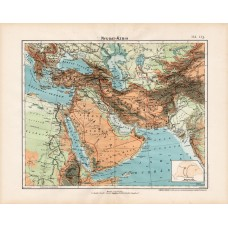 West Asia orographic and hydrographic map 1906