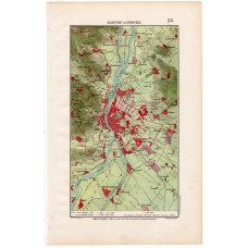 Budapest and its surroundings map 1906