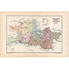 Arad county map 1904